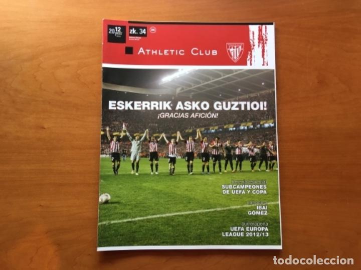 REVISTA OFICIAL ATHLETIC CLUB BILBAO N°34 JUNIO 2012 (Coleccionismo Deportivo - Revistas y Periódicos - otros Fútbol)