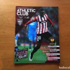 Coleccionismo deportivo: REVISTA OFICIAL ATHLETIC CLUB BILBAO N°46 JUNIO 2015. Lote 131193908