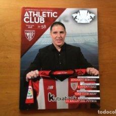 Coleccionismo deportivo: REVISTA OFICIAL ATHLETIC CLUB BILBAO N°58 JUNIO 2018. Lote 131194372