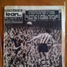 Coleccionismo deportivo: REVISTA POPULAR DE LOS LUNES LEAN N,191 DE 1958 PORTADA EL BARÇA EN SAN MAMES. Lote 131245843