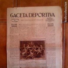 Coleccionismo deportivo: DIARIO LA GACETA DEPORTIVA N,38 AÑO 1929. Lote 131249123