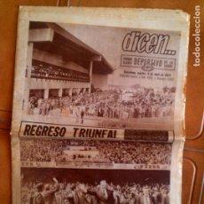 Coleccionismo deportivo: PERIODICO DEPORTIVO DICEN N,2852 DE 1974 PORTADA CAMPEONES DE LIGA. Lote 131266599