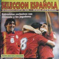 Coleccionismo deportivo: REVISTA DE FÚTBOL - SELECCIÓN ESPAÑOLA - EUROCOPA DE INGLATERRA (1996). Lote 131390210