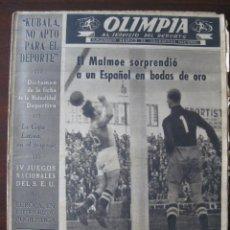 Coleccionismo deportivo: OLIMPIA, SUPLEMENTO GRÁFICO DE SOLIDARIDAD NACIONAL.Nº 29, 1953, REPORTAGE BODAS DE ORO RCD ESPAÑOL. Lote 131504374