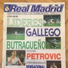 Collezionismo sportivo: REVISTA OFICIAL REAL MADRID Nº 458 GALLEGO BUTRAGUEÑO GORNIK ZABRZE POSTER PETROVIC JUVENIL A . Lote 131735150