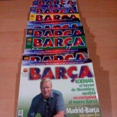 Coleccionismo deportivo: LOTE 23 REVISTAS BARCA , BARCELONA , DEL 1 AL 23 - VER FOTOS. Lote 132089734