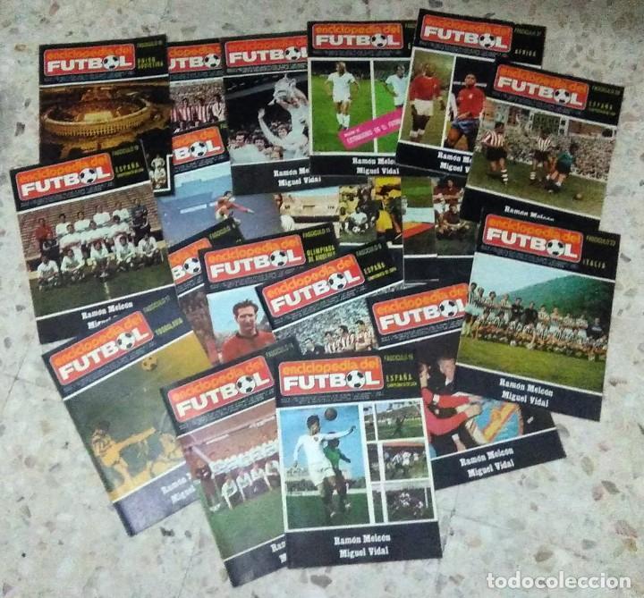 ENCICLOPEDIA DEL FUTBOL - RAMON MELCÓN - MIGUEL VIDAL - LOTE DE 22 REVISTAS (Coleccionismo Deportivo - Revistas y Periódicos - otros Fútbol)
