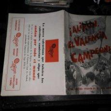 Coleccionismo deportivo: REVISTA FUTBOL ALIRON EL VALENCIA CAMPEON LIGA 1970 - 1971 EL DEPORTIVO VALENCIANO, RECUERDO GESTA. Lote 132240058