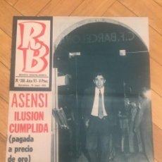 Coleccionismo deportivo: REVISTA R.B. RB Nº 268 (19-5-70) ASENSI CELTA DE VIGO 1-0 BARCELONA CASTRO . Lote 132332434