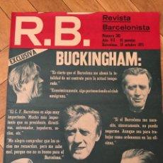 Coleccionismo deportivo: REVISTA R.B. RB Nº 342 (19-10-71) BUCKINGHAM BARCELONA 1-0 CELTA DE VIGO STEAUA BUCAREST BUCURESTI. Lote 132402586