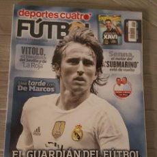 Coleccionismo deportivo: DEPORTES CUATRO FÚTBOL NÚMERO 11 MODRIC.. Lote 132764622