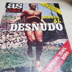 Coleccionismo deportivo: AS COLOR, KUBALA AL DESNUDO,N° 428 AGOSTO 1979, POSTER DE BORG N° 1 DEL TENIS MUNDIAL. Lote 133294982