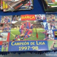 Collectionnisme sportif: POSTER EL MUNDO DEPORTIVO ( BARÇA CAMPEON DE LIGA 97/98 ) F.C. BARCELONA SANITAS. Lote 133669058