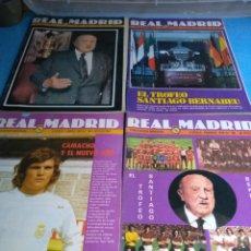 Coleccionismo deportivo: REAL MADRID PUBLICACIÓN MENSUAL N'338-344-345-352 AÑOS 78/79. Lote 133741770