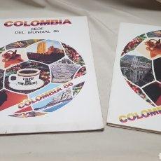 Coleccionismo deportivo: REVISTA Y MAPA DESPLEGABLE DEL MUNDIAL DEL 86 EN COLOMBIA QUE NUNCA SE CELEBRÓ TRAS SER ELEGIDA. Lote 133807037