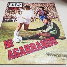 Coleccionismo deportivo: REVISTA AS COLOR, NI AGARRANDO, N°515, ABRIL 1981, POSTER DEL BOXEADOR CASTAÑON. Lote 133856109
