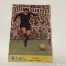 Coleccionismo deportivo: REVISTA DICEN - Nº183 - 31 MARZO 1956 - PORTADA MANDI C.F. BARCELONA. Lote 133996862
