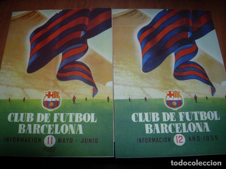 CLUB DE FUTBOL BARCELONA / BARÇA 1955 / INFORMACION Nº 11 Y Nº12 (Coleccionismo Deportivo - Revistas y Periódicos - otros Fútbol)