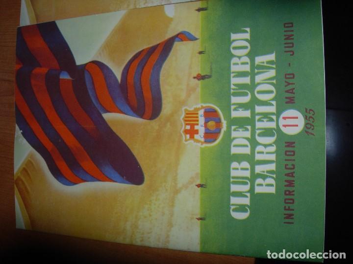 Coleccionismo deportivo: CLUB DE FUTBOL BARCELONA / BARÇA 1955 / INFORMACION Nº 11 Y Nº12 - Foto 2 - 134025286