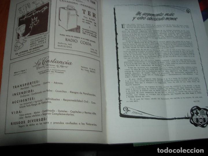 Coleccionismo deportivo: CLUB DE FUTBOL BARCELONA / BARÇA 1955 / INFORMACION Nº 11 Y Nº12 - Foto 4 - 134025286