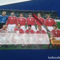 Coleccionismo deportivo: MINI POSTER EUROCOPA DE FUTBOL 2000 ( DINAMARCA ) POSIBLE SELECCION. Lote 135095310