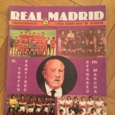 Coleccionismo deportivo: REVISTA REAL MADRID Nº 345 (FEBRERO 1979) TORNEO SANTIAGO BERNABEU MILAN AJAX BAYERN MUNICH. Lote 135201038