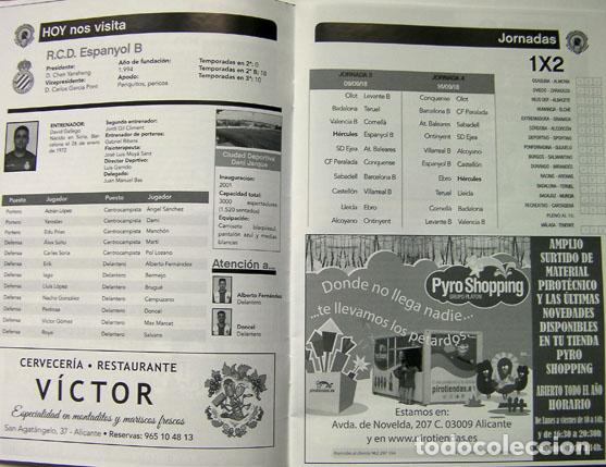 Coleccionismo deportivo: Revista y entrada fútbol Hércules Alicante y Español de Barcelona estadio rico Perez, 16 pag, - Foto 2 - 135223654