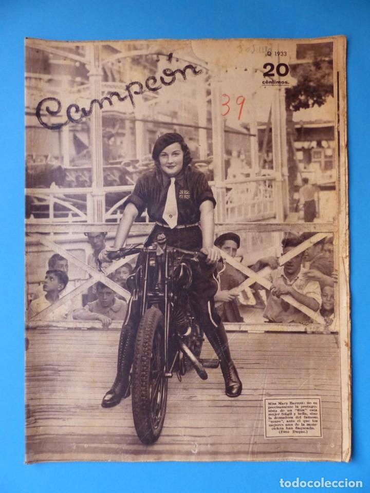 Coleccionismo deportivo: 12 REVISTAS CAMPEON DE FUTBOL DIFERENTES, AÑOS 1930, VER DESCRIPCION Y FOTOS ADICIONALES - Foto 3 - 135235726