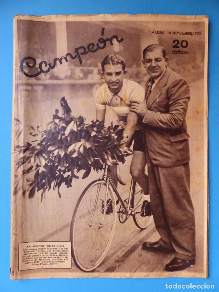 Coleccionismo deportivo: 12 REVISTAS CAMPEON DE FUTBOL DIFERENTES, AÑOS 1930, VER DESCRIPCION Y FOTOS ADICIONALES - Foto 5 - 135235726