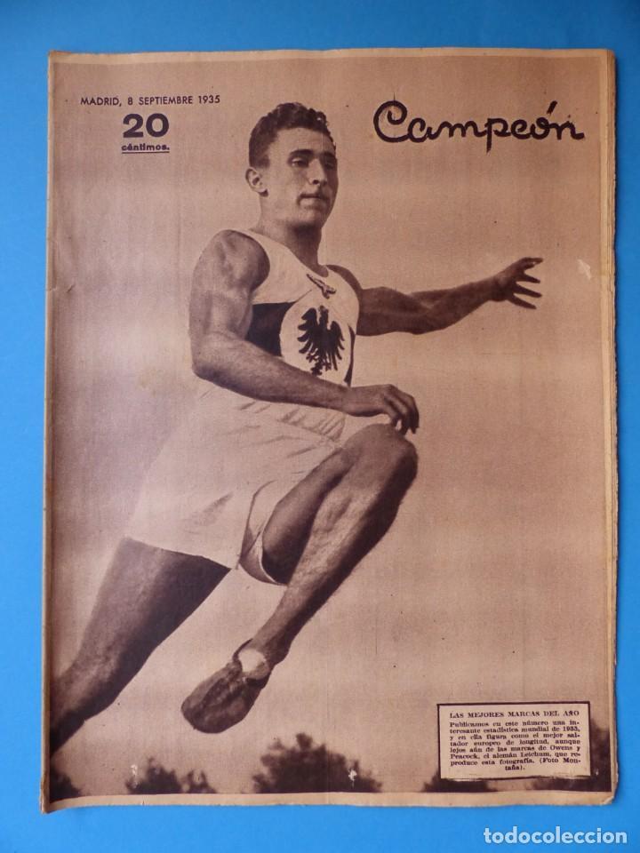 Coleccionismo deportivo: 12 REVISTAS CAMPEON DE FUTBOL DIFERENTES, AÑOS 1930, VER DESCRIPCION Y FOTOS ADICIONALES - Foto 6 - 135235726