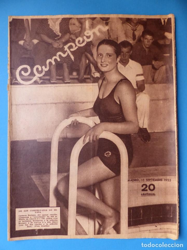 Coleccionismo deportivo: 12 REVISTAS CAMPEON DE FUTBOL DIFERENTES, AÑOS 1930, VER DESCRIPCION Y FOTOS ADICIONALES - Foto 8 - 135235726