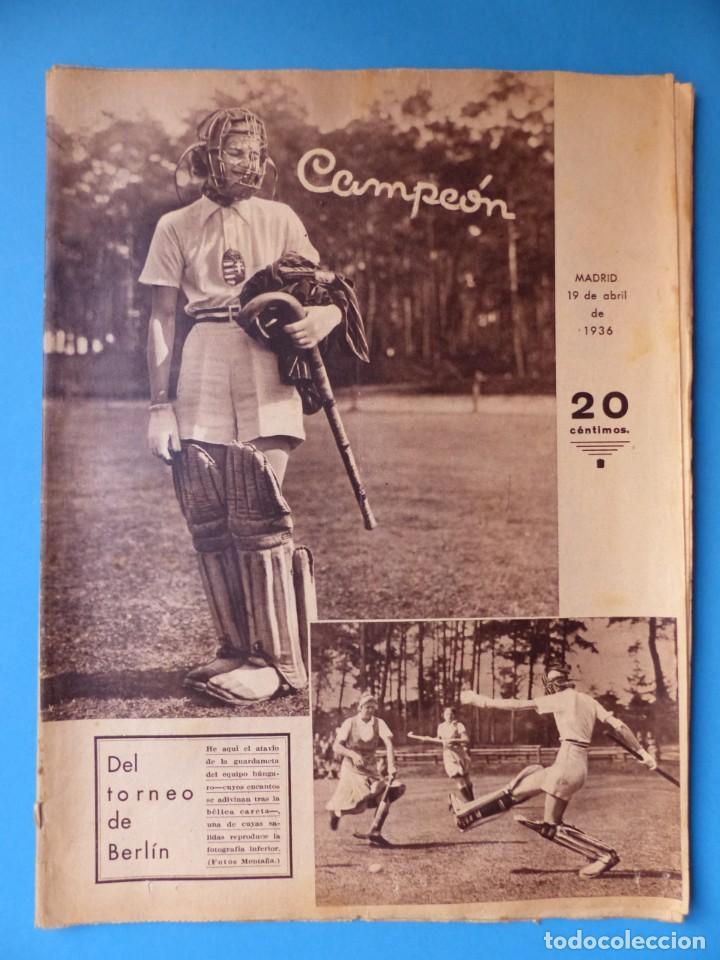 Coleccionismo deportivo: 12 REVISTAS CAMPEON DE FUTBOL DIFERENTES, AÑOS 1930, VER DESCRIPCION Y FOTOS ADICIONALES - Foto 10 - 135235726