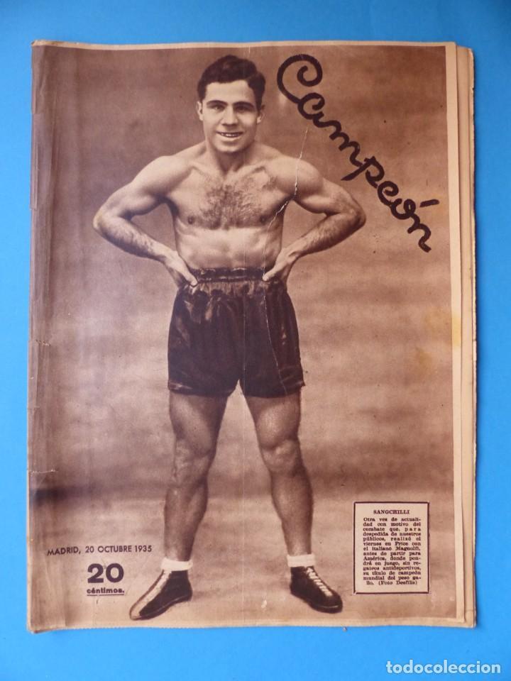 Coleccionismo deportivo: 12 REVISTAS CAMPEON DE FUTBOL DIFERENTES, AÑOS 1930, VER DESCRIPCION Y FOTOS ADICIONALES - Foto 12 - 135235726