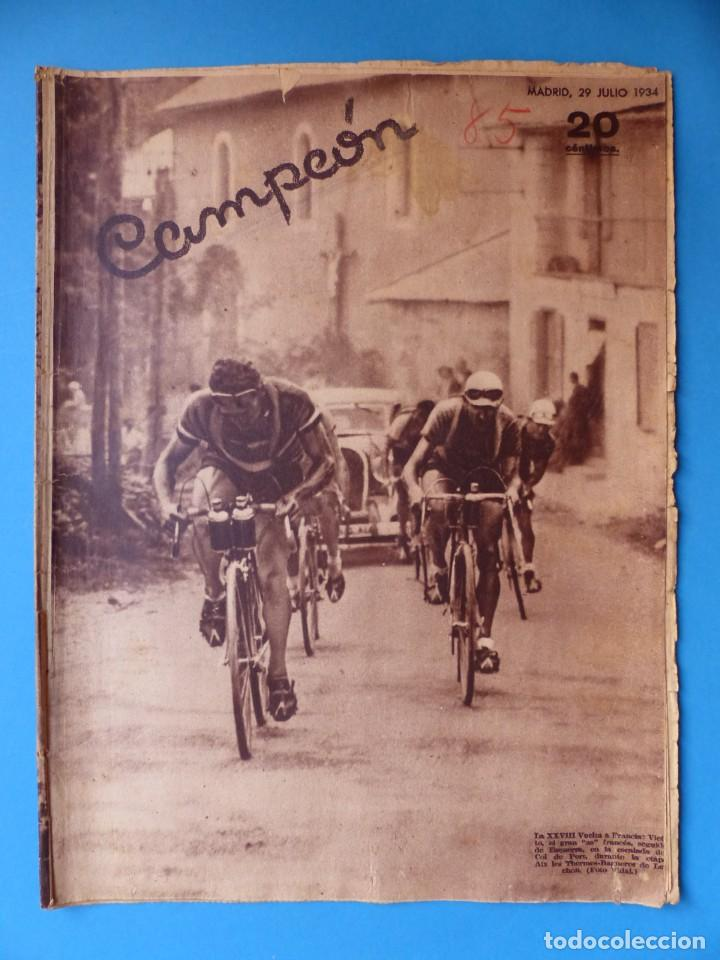 Coleccionismo deportivo: 12 REVISTAS CAMPEON DE FUTBOL DIFERENTES, AÑOS 1930, VER DESCRIPCION Y FOTOS ADICIONALES - Foto 14 - 135235726