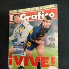 Coleccionismo deportivo: EL GRAFICO - Nº 3965 - EL RETORNO DE MARADONA A BOCA JUNIORS - COREA DEL SUR - BOCA JUNIORS - 1.995. Lote 135490354