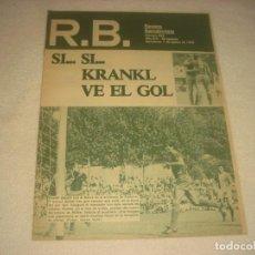 Coleccionismo deportivo: RB. REVISTA BARCELONISTA. Nº 696 , AGOSTO 1978 , SI.. KRANKL VE EL GOL.. Lote 135634243