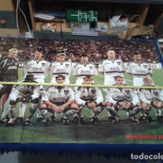 Coleccionismo deportivo: POSTER GRANDE DOBLE MANCHESTER UNITED ( SPECIAL Nº 2 ) OFFICIAL MANCHESTER UNITED. Lote 135739203