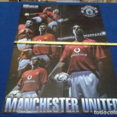 Coleccionismo deportivo: POSTER DOBLE MANCHESTER UNITED ( NIKE ) OFFICIAL MANCHESTER UNITED . Lote 135739235