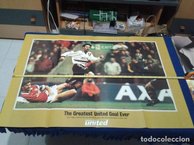 Usado, POSTER DOBLE OFFICIAL MANCHESTER UNITED ( RYAN GIGGS V ARSENAL)14 ABRIL 1999 FA CUP SEMI - FINAL segunda mano