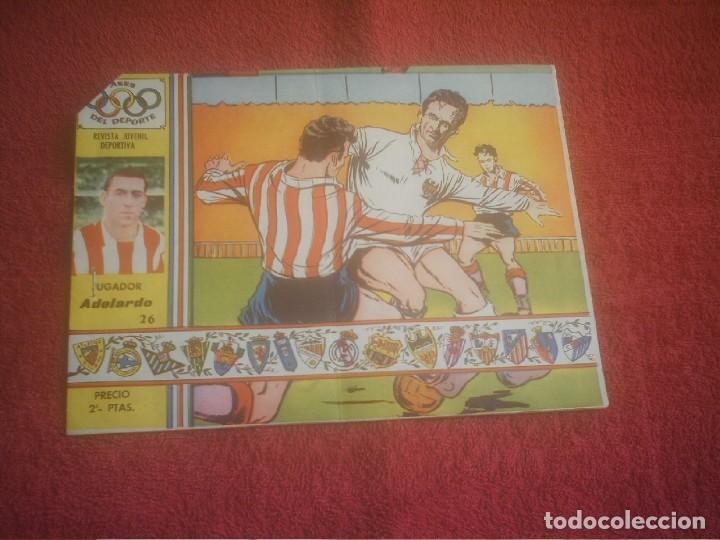 ATLETICO DE MADRID ADELARDO Nº 26 ,ASES DEL DEPORTE ,TEBEO BIOGRAFIA (Coleccionismo Deportivo - Revistas y Periódicos - otros Fútbol)