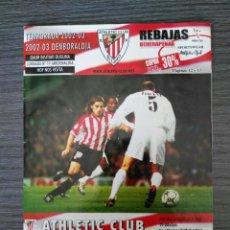 Coleccionismo deportivo: ATHLETIC CLUB-REAL MADRID CF - PROGRAMA TEMP 2002/2003 - JORNADA 19 LIGA. Lote 136029284