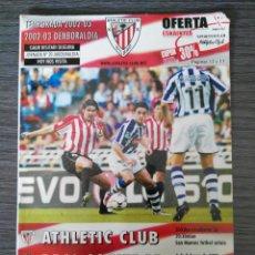 Coleccionismo deportivo: ATHLETIC CLUB-REAL SOCIEDAD - PROGRAMA TEMP 2002/2003 - JORNADA 20 LIGA. Lote 136029657