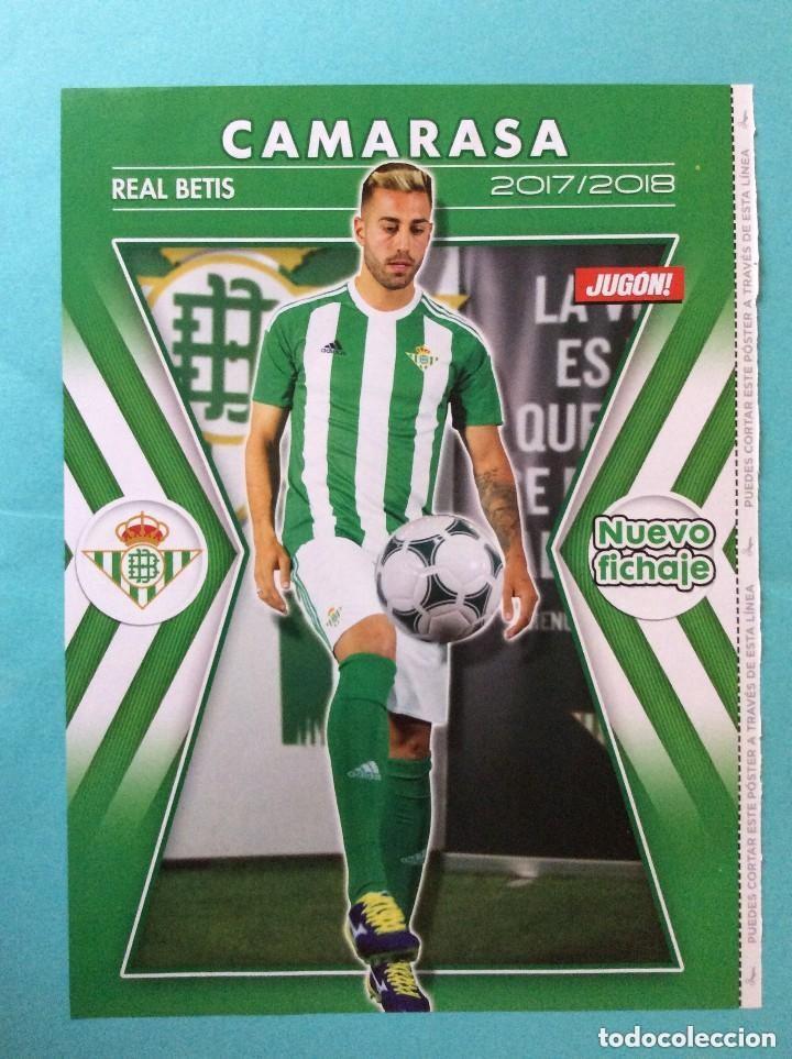 1 POSTER TAMAÑO FOLIO REVISTA JUGON - CAMARASA ( REAL BETIS ) 2017-2018 (Coleccionismo Deportivo - Revistas y Periódicos - otros Fútbol)