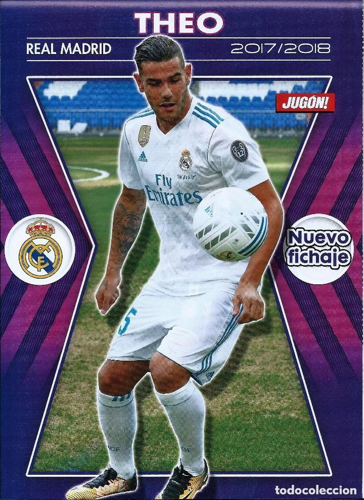 1 POSTER TAMAÑO FOLIO REVISTA JUGON - THEO ( REAL MADRID C.F ) 2017-2018 (Coleccionismo Deportivo - Revistas y Periódicos - otros Fútbol)