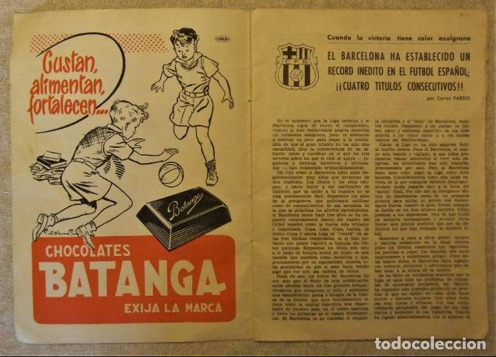 Coleccionismo deportivo: REVISTA BOLETIN DEL C.F. BARCELONA 1952-53 EDIT. INSTITUTO BALDOMÁ BARÇA - Foto 3 - 136145970