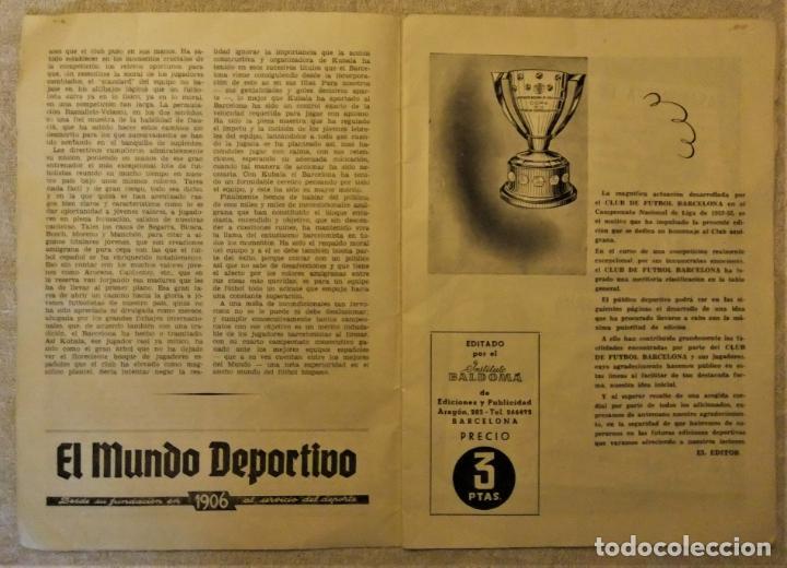 Coleccionismo deportivo: REVISTA BOLETIN DEL C.F. BARCELONA 1952-53 EDIT. INSTITUTO BALDOMÁ BARÇA - Foto 13 - 136145970