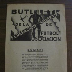 Coleccionismo deportivo: BUTLLETI DE LA FEDERACION CATALANA DE FUTBOL - BARCELONA ANY 1929 - ANY 1 Nº 5 - VER FOTOS(V-15.072). Lote 136631338