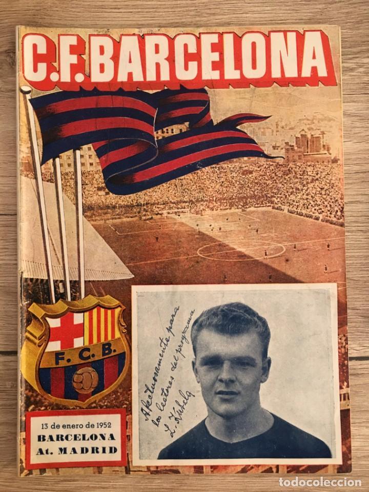PROGRAMA OFICIAL BARCELONA ATLETICO MADRID LIGA TEMPORADA 1951 1952 (Coleccionismo Deportivo - Revistas y Periódicos - otros Fútbol)