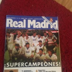 Coleccionismo deportivo: REVISTA REAL MADRID LUIS ENRIQUE ENERO 94. Lote 136752626