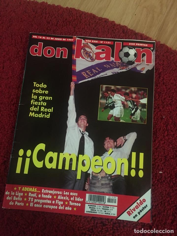 DON BALÓN REAL MADRID LIGA RAÜL LIGA 1997 (Coleccionismo Deportivo - Revistas y Periódicos - otros Fútbol)